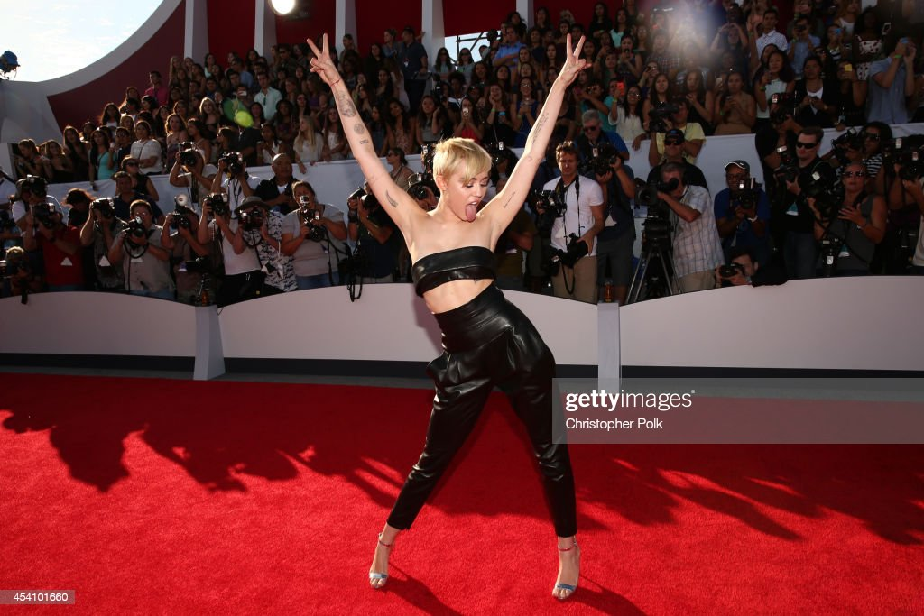 Singer Miley Cyrus attends the 2014 MTV Video Music Awards at The Forum on August 24, 2014 in Inglewood, California.