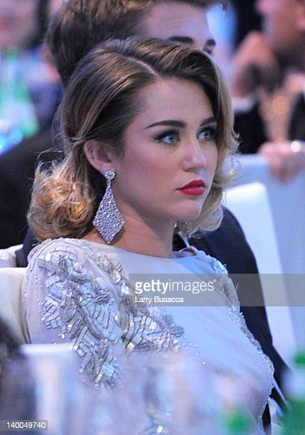 Singer Miley Cyrus attends the 20th Annual Elton John AIDS Foundation Academy Awards Viewing Party at The City of West Hollywood Park on February 26...