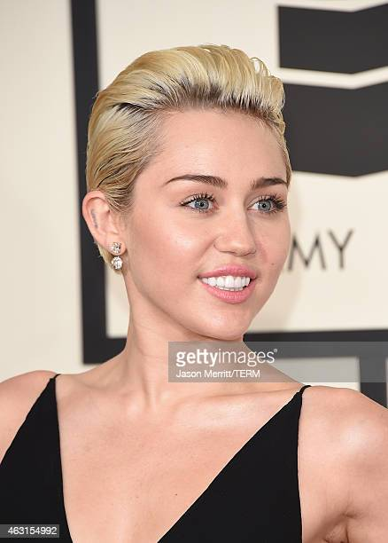 Singer Miley Cyrus attends The 57th Annual GRAMMY Awards at the STAPLES Center on February 8 2015 in Los Angeles California