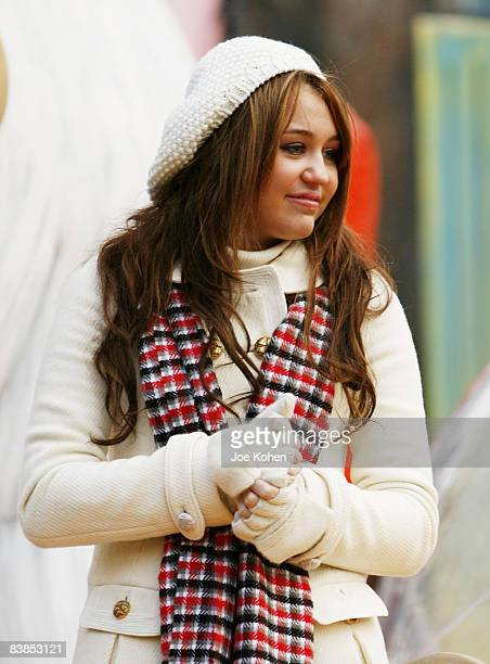Singer Miley Cyrus attends the 82nd Annual Macy's Thanksgiving Day Parade on the streets of Manhattan on November 27 2008 in New York City
