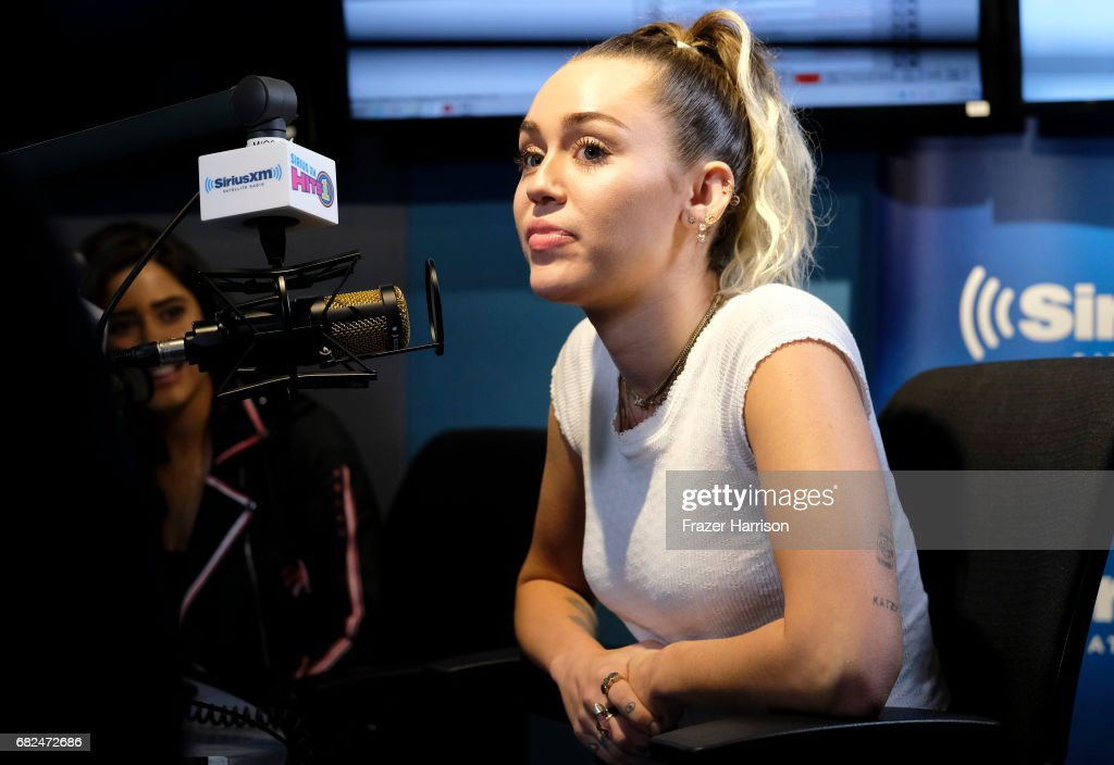 Singer Miley Cyrus attends the 'Hits 1 In Hollywood' On SiriusXM Hits 1 Channel at The SiriusXM Studios In Los Angeles on May 12, 2017 in Los Angeles, California.