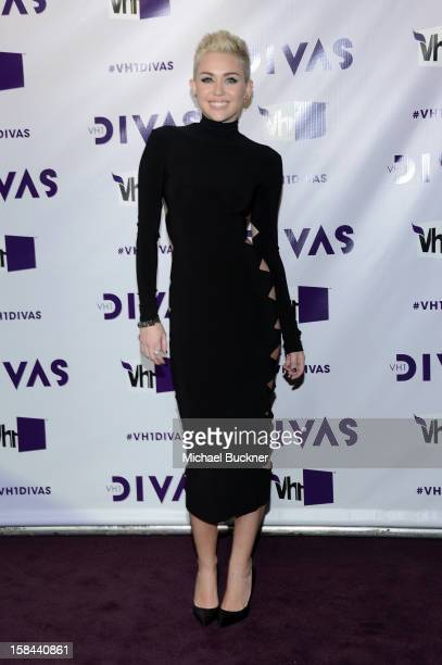 Singer Miley Cyrus attends VH1 Divas 2012 at The Shrine Auditorium on December 16 2012 in Los Angeles California