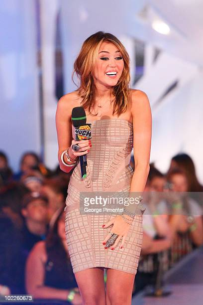 Singer Miley Cyrus hosts the 21st Annual MuchMusic Video Awards at the MuchMusic HQ on June 20 2010 in Toronto Canada