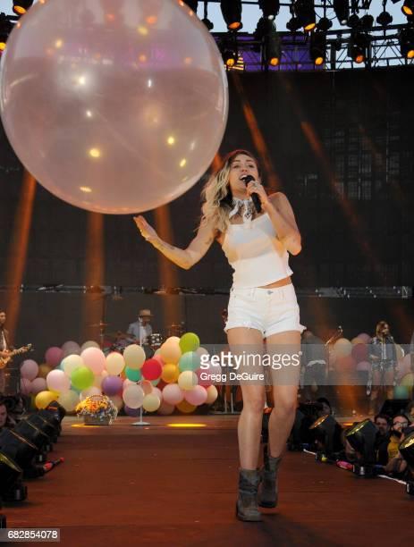 Singer Miley Cyrus performs at 1027 KIIS FM's 2017 Wango Tango at StubHub Center on May 13 2017 in Carson California