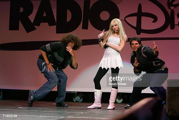 Singer Miley Cyrus performs onstage during the Radio Disney Totally 10 Birthday Concert held at the Arrowhead Pond of Anaheim on July 22 2006 in...