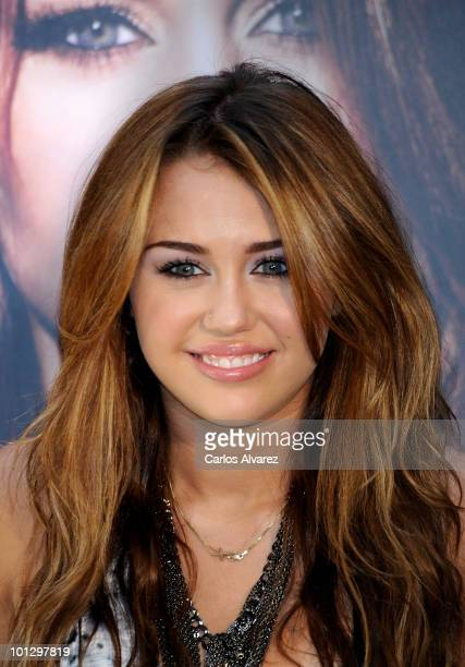 Singer Miley Cyrus presents her new Album Can't Be Tamed at the Villamagna Hotel on May 31 2010 in Madrid Spain