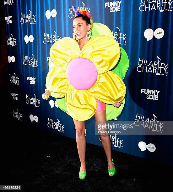 Singer Miley Cyrusarrives at the James Franco's Bar Mitzvah Hilarity For Charity's 4th Annual Variety Show at Hollywood Palladium on October 17 2015...