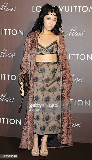 Singer Miliyah Kato attends Louis Vuitton Timeless Muses exhibition at the Tokyo Station Hotel on August 29 2013 in Tokyo Japan