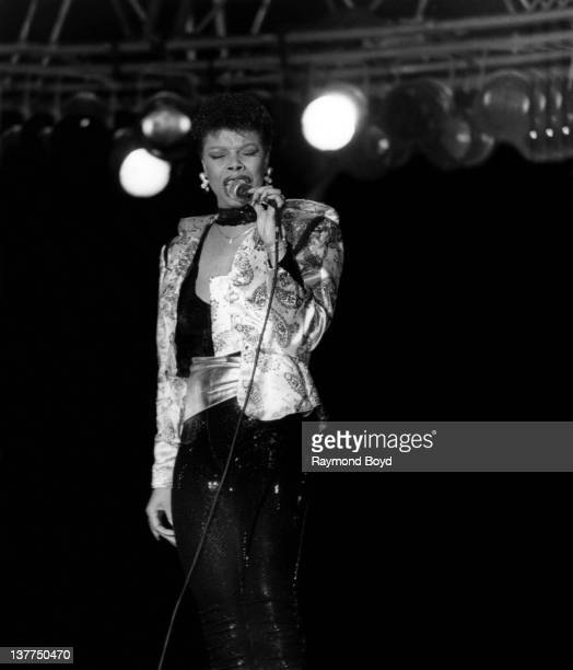 Singer Millie Jackson performs at Navy Pier in Chicago Illinois in 1987