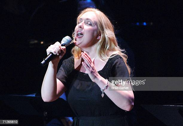 Singer Mindy McCready performs at the V-Day Presentation of Any One Of Us: Words From Prison at Alice Tully Hall - Lincoln Center June 21, 2006 in...