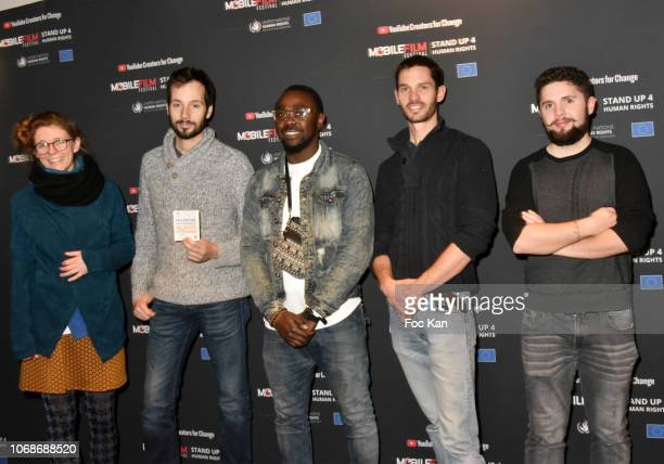 Singer Miraculeux Stephano and members of Miraculeux Walito team attend 'Mobile Film Festival Stand Up 4 Human Rights Awards' Ceremony Hosted by...