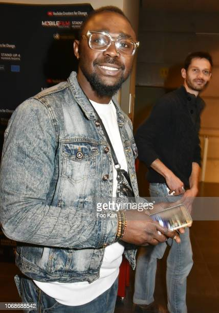Singer Miraculeux Walito attends 'Mobile Film Festival Stand Up 4 Human Rights Awards' Ceremony Hosted by Youtube Creators For Change at Cinema MK2...