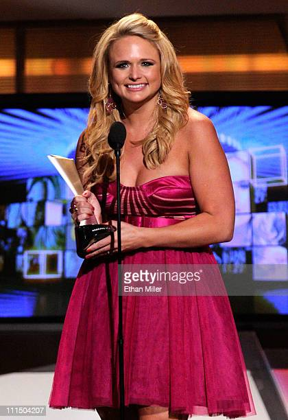 Singer Miranda Lambert accepts the award for Top Female Vocalist of the Year onstage at the 46th Annual Academy Of Country Music Awards held at the...