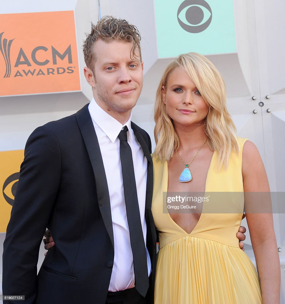 Singer Miranda Lambert and boyfriend Anderson East arrive at the 51st Academy Of Country Music Awards at MGM Grand Garden Arena on April 3, 2016 in Las Vegas, Nevada.