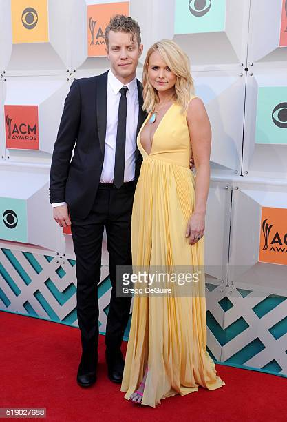 Singer Miranda Lambert and boyfriend Anderson East arrive at the 51st Academy Of Country Music Awards at MGM Grand Garden Arena on April 3 2016 in...