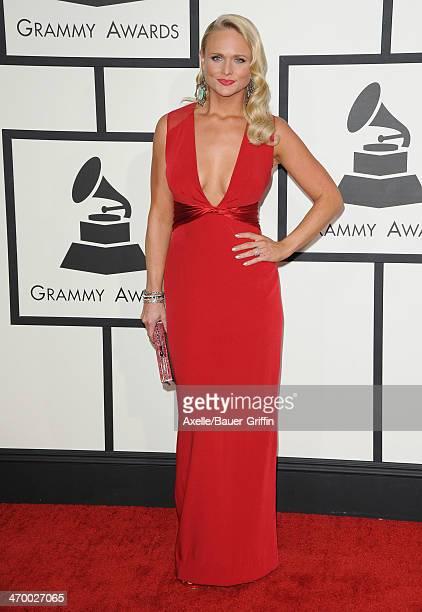 Singer Miranda Lambert arrives at the 56th GRAMMY Awards at Staples Center on January 26 2014 in Los Angeles California