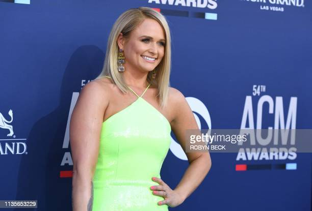 US singer Miranda Lambert arrives for the 54th Academy of Country Music Awards on April 7 at the MGM Grand Garden Arena in Las Vegas Nevada
