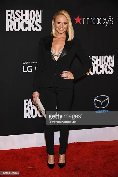 Singer Miranda Lambert attends Fashion Rocks 2014 presented by Three Lions Entertainment at the Barclays Center of Brooklyn on September 9 2014 in...