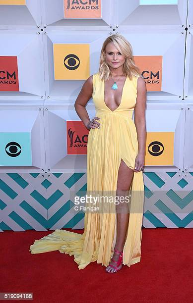 Singer Miranda Lambert attends the 51st Academy Of Country Music Awards at MGM Grand Garden Arena on April 3 2016 in Las Vegas Nevada