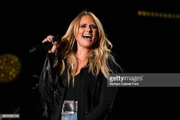 Singer Miranda Lambert performs at Nissan Stadium during day 1 of the 2017 CMA Music Festival on June 8 2017 in Nashville Tennessee