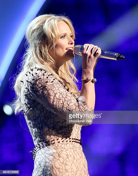 Singer Miranda Lambert performs onstage at 2014 MusiCares Person Of The Year Honoring Carole King at Los Angeles Convention Center on January 24 2014...