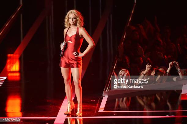 Singer Miranda Lambert performs onstage at Fashion Rocks 2014 presented by Three Lions Entertainment at the Barclays Center of Brooklyn on September...