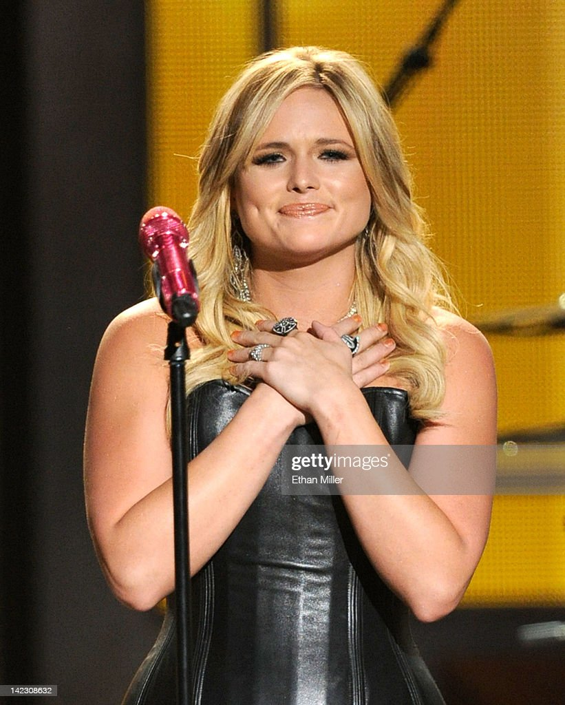 Singer Miranda Lambert performs onstage at the 47th Annual Academy Of Country Music Awards held at the MGM Grand Garden Arena on April 1, 2012 in Las Vegas, Nevada.