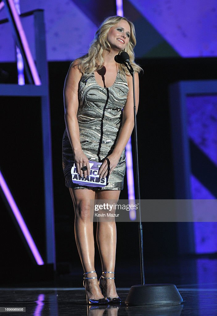 Singer Miranda Lambert presents an award during the 2013 CMT Music awards at the Bridgestone Arena on June 5, 2013 in Nashville, Tennessee.