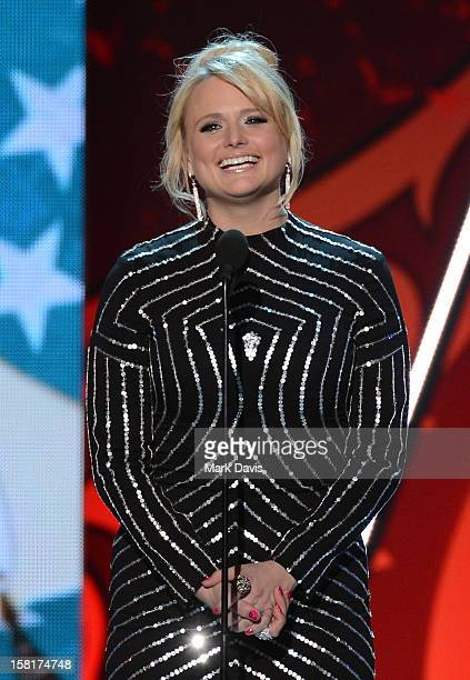 Singer Miranda Lambert speaks onstage during the 2012 American Country Awards at the Mandalay Bay Events Center on December 10 2012 in Las Vegas...