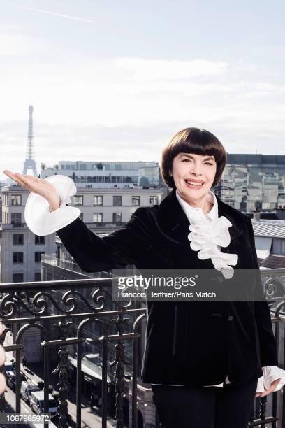 Singer Mireille Mathieu is photographed for Paris Match on November 5 2018 in Paris France
