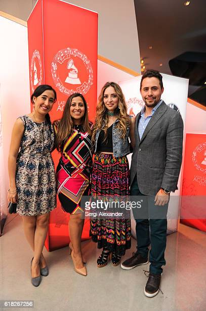 Singer Mirella Cesa attends the Latin GRAMMY Acoustic Sessions in Miami Beach on October 25 2016 in Miami Florida