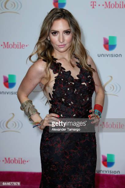 Singer Mirella Cesa attends Univision's 29th Edition of Premio Lo Nuestro A La Musica Latina at the American Airlines Arena on February 23 2017 in...