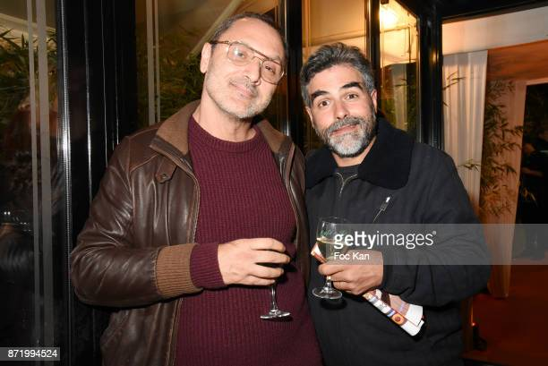 Singer Mirwais Stass from Taxi Girl band and Technikart editor in chief Laurence Remila attend the 'Prix De Flore 2017' Literary Prize Winner...