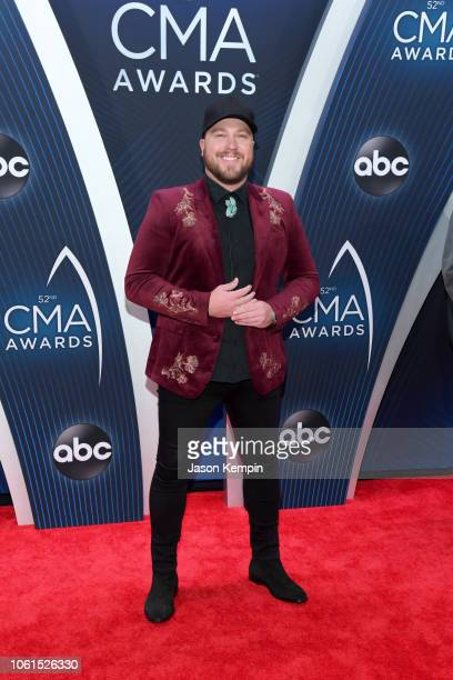Singer Mitchell Tenpenny attends the 52nd annual CMA Awards at the Bridgestone Arena on November 14 2018 in Nashville Tennessee