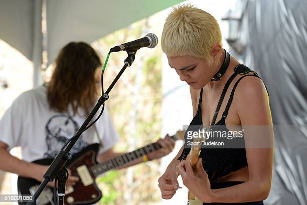 Singer Miya Folick performs during the Wild Honey Pie SXSW party on March 16 2016 in Austin Texas