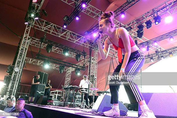 Singer MO performs onstage during day 2 of the Coachella Music Festival at The Empire Polo Club on April 19 2015 in Indio California