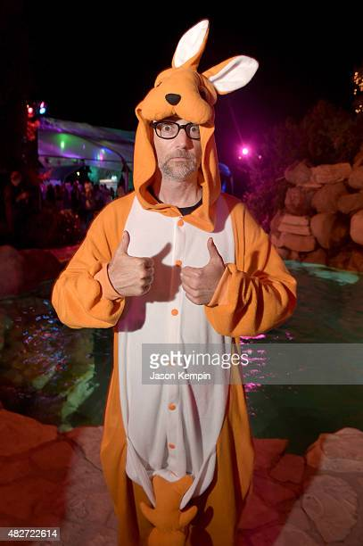 Singer Moby attends the annual Midsummer Night's Dream Party at the Playboy Mansion hosted by Hugh Hefner on August 1 2015 in Los Angeles California