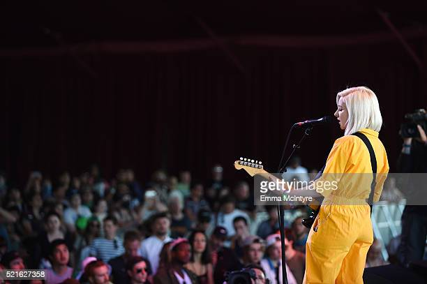 Singer Molly Rankin of Alvvays performs onstage during day 2 of the 2016 Coachella Valley Music Arts Festival Weekend 1 at the Empire Polo Club on...
