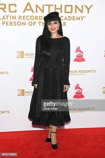 Singer Mon Laferte attends the 2016 Person of the Year honoring Marc Anthony at MGM Grand Garden Arena on November 16 2016 in Las Vegas Nevada
