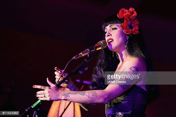 Singer Mon Laferte performs onstage during the Latin Grammy Acoustic Sessions Mexico City 2016 at Casa Del Lago Chapultepec on September 28 2016 in...