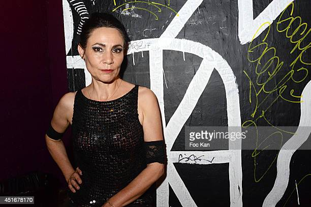Singer Mona Soyoc from Kas Product attends Des Jeunes Gens Modernes' After Party At the Point Ephemere on July 3, 2014 in Paris, France.