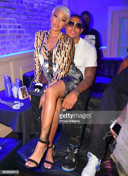 Singer Monica and Shannon Brown attend the 'Shades of Black weekend Climax' Party at Metropolitan Nightclub on July 3 2017 in New Orleans Louisiana