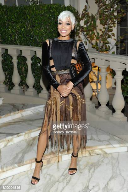 Singer Monica at BALMAIN celebrates first Los Angeles boutique opening and Beats by Dre collaboration on July 20 2017 in Beverly Hills California