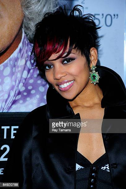 Singer Monica attends a screening of Tyler Perry's Madea Goes to Jail at the AMC Loews Lincoln Center on February 18 2009 in New York City
