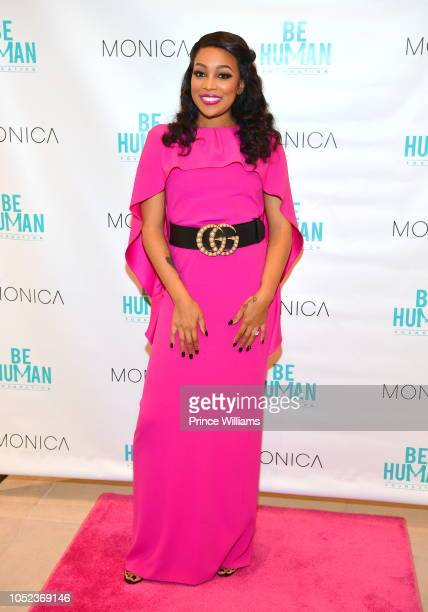 Singer Monica attends the Be Human Foundation Launch on October 16 2018 in Atlanta Georgia