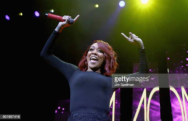 Singer Monica attends the Christmas In The City concert at the Prudential Center on December 18 2015 in Newark New Jersey