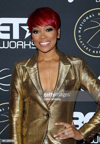 Singer Monica attends The Players' Awards presented by BET at the Rio Hotel Casino on July 19 2015 in Las Vegas Nevada