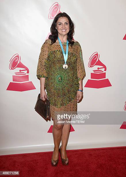 Singer Monica Fuquen attends the 2014 Person of the Year honoring Joan Manuel Serrat at the Mandalay Bay Events Center on November 19 2014 in Las...