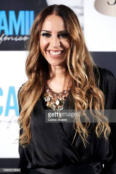 Singer Monica Naranjo attends Camilo Sesto's new album 'Camilo Sinfonico' presentation at the Florida Park Club on November 20 2018 in Madrid Spain