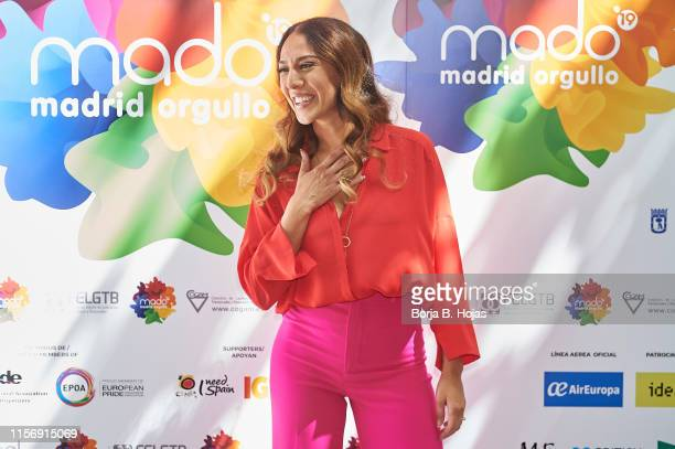 Singer Monica Naranjo attends 'MADO 2019' presentation at Hotel ME Madrid on June 19 2019 in Madrid Spain